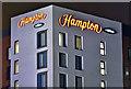 J3373 : The Hampton by Hilton Hotel (night view), Belfast (December 2018) by Albert Bridge