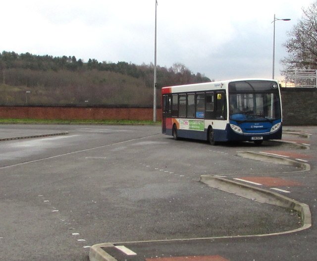 Stagecoach bus in Bargoed bus station