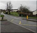 SO0328 : Zigzag markings on Bailihelig Road, Llanfaes, Brecon by Jaggery