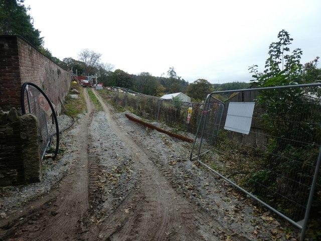 Construction work at Restormel Farm