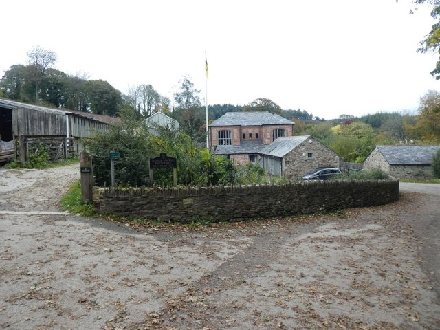 Old barns and renovated building, Restormel Farm