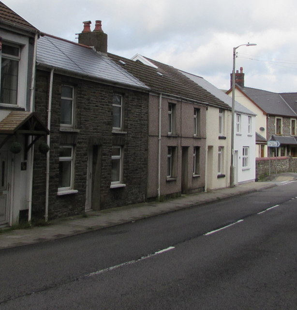 West side of Bethania Row, Ogmore Vale