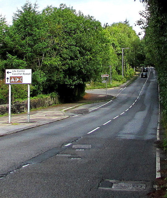 North along Aber Road, Ogmore Vale