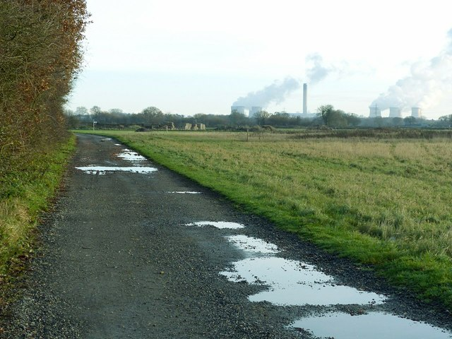 Former airfield road, Burn