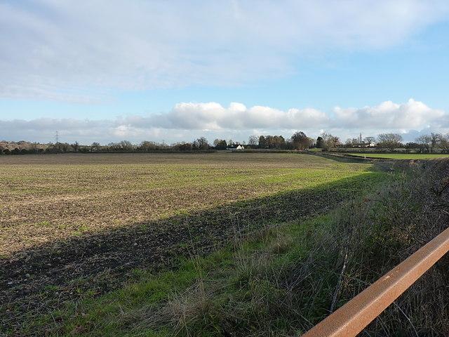 Open field north of Fen End Road