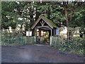 TG1506 : The lychgate at Little Melton church by Adrian S Pye