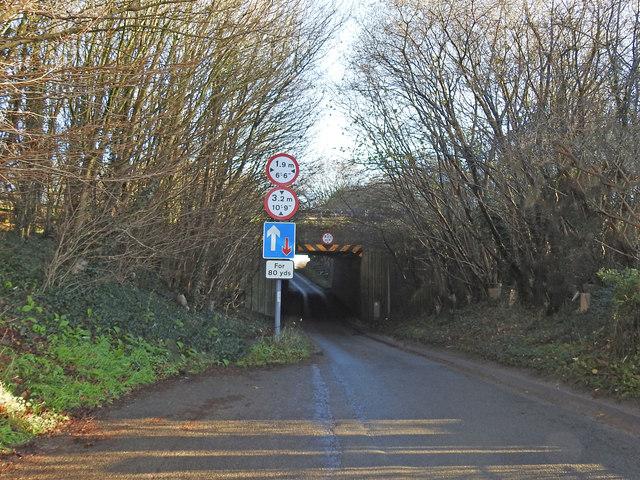 Single lane A47 underpass at Bawburgh