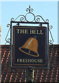TG1309 : The sign at The Bell, Marlingford by Adrian S Pye