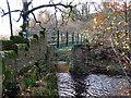 NZ0120 : Footbridge over the River Balder by Mike Quinn