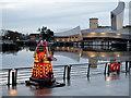 SJ8097 : Lightwaves 2018, Red Dalek on the Waterfront by David Dixon