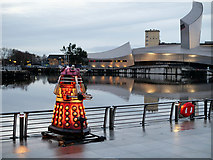 SJ8097 : Lightwaves 2018, Red Dalek on the Waterfront by David Dixon