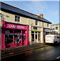 ST1586 : Pink shop in Caerphilly town centre by Jaggery
