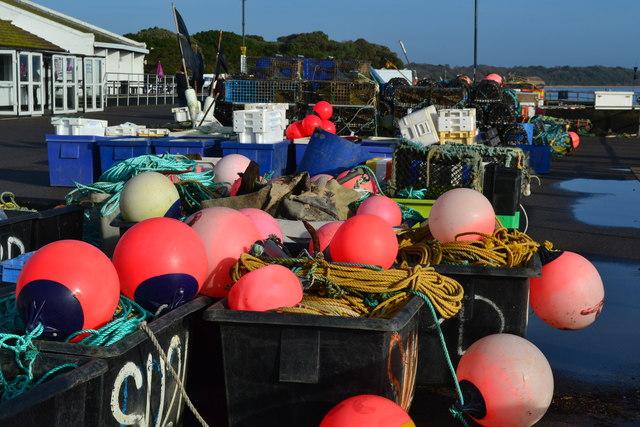 Fishing floats, Mudeford Quay
