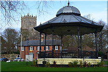 SZ1592 : Bandstand and Christchurch Priory by David Martin