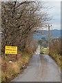 NH5451 : Minor road near Ord Muir by valenta