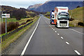 NN7498 : HGVs Travelling Northwards on the A9 near Ruthven by David Dixon