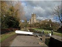 SO8276 : Kidderminster Lock & St Mary's Church, Kidderminster by Colin Park