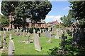SJ5562 : The Churchyard of St Helen's Church, Tarporley by Jeff Buck