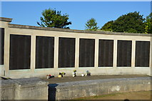 SX4753 : Plymouth Naval Memorial - Escort, coastal defences panels by N Chadwick