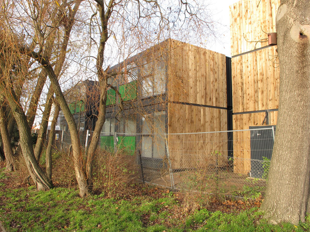 Homes from shipping containers, Westfield Lodge, North Acton
