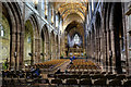 SJ4066 : The Nave of Chester Cathedral by Jeff Buck
