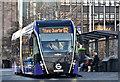"J3474 : ""Glider"" bus, Queen's Square, Belfast (December 2018) by Albert Bridge"