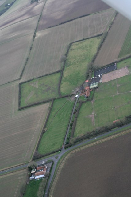 Ridge and furrow and old enclosure boundaries, Ludborough Vale: aerial 2018