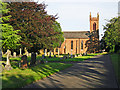 NY4153 : St John the Baptist Church and Upperby Cemetery by Rose and Trev Clough