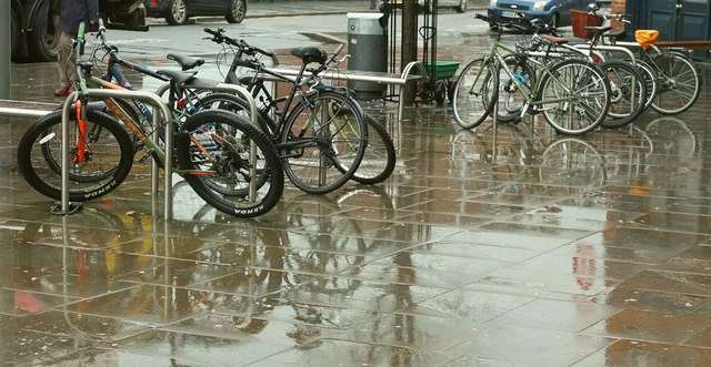 Bicycles, Exeter Central station