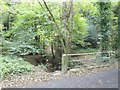 SX0049 : Bridge over a minor stream in valley of St Austell river by David Smith