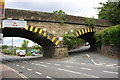 SE1422 : Railway Bridge MVN2/174 at junction of Bridge End and Cliffe Road by Roger Templeman