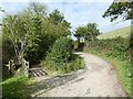 SX0045 : Junction of paths near Heligan Mill by David Smith