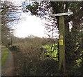 ST1094 : Maes y Bryn Farm name sign, Llanfabon by Jaggery