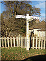 TM4899 : Signpost on Blocka Road by Adrian Cable