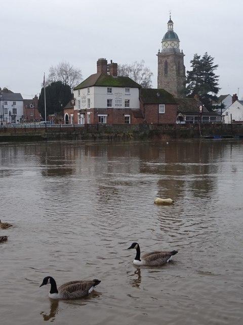 A swollen River Severn