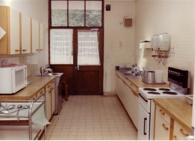 The kitchen on Lilacs Ward, Borocourt Hospital