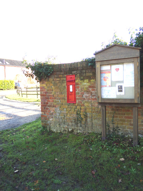 Ashby Dell Victorian Postbox & Ashby Village Notice Board