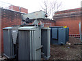 SO8754 : Worcestershire Royal Hospital - old and new transformers by Chris Allen