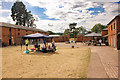 SJ9921 : The courtyard of Shugborough Park Farm by Jeff Buck