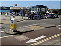 SX4753 : Hoe Road pedestrian refuge, Plymouth by Jaggery