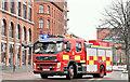 J3473 : Fire appliance, Christmas Day, Belfast - December 2018(1) by Albert Bridge
