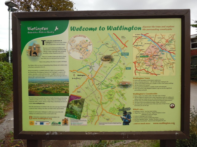 Information Board at Watlington Car Park