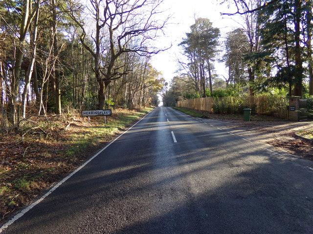 Entering Herringfleet on the B1074 Herringfleet Road