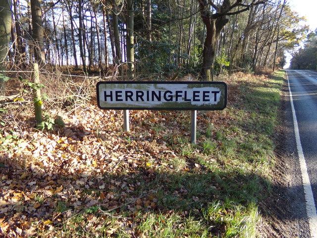Herringfleet Village Name sign