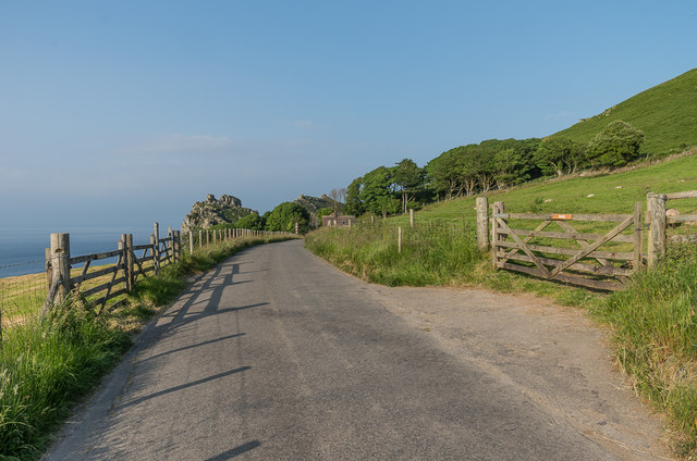 Lane to the Valley of Rocks