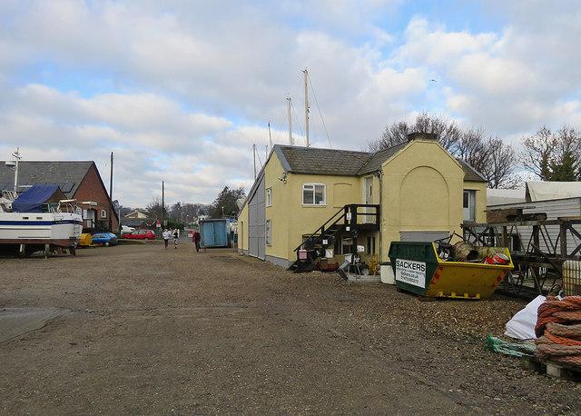 Melton: boatyard and Dock Lane Crossing