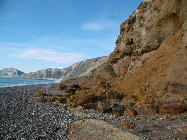 Worbarrow Bay, cliffs