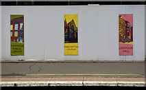NS3421 : Hoarding at Ayr railway station by Thomas Nugent