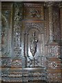 SO0897 : Carved panels in the Blayney room at Gregynog by Penny Mayes