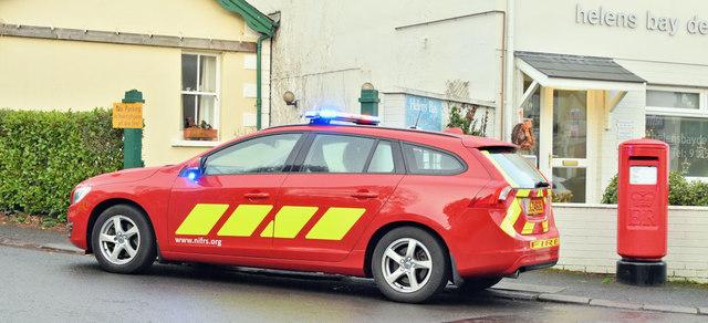 Fire Brigade car, Helen's Bay (December 2018)
